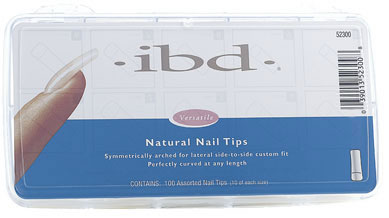 ibd Natural Nail Tips, 100 шт. - Натуральные типсы (ассорти)