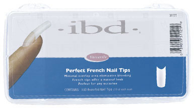 Ibd Perfect French Nail Tips, 100шт. - Французские типсы (ассорти)