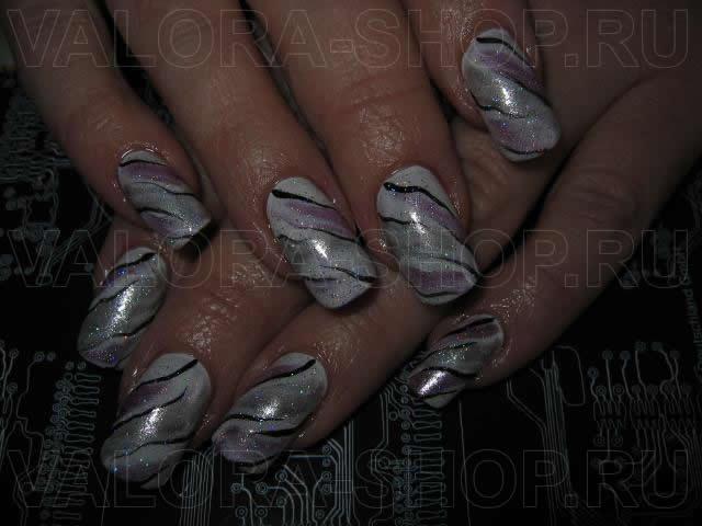 Наращивание ногтей акрил на типсах